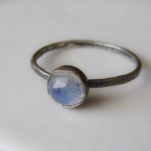 Sterling Silver Moonstone Stacking ..